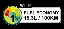 15.3 litres/100km