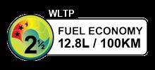 12.8 litres/100km