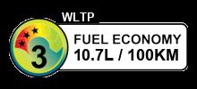 10.7 litres/100km