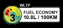 10.8 litres/100km
