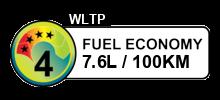 7.6 litres/100km