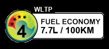 7.7 litres/100km