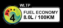 8 litres/100km