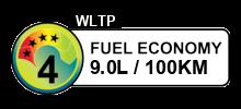 9 litres/100km