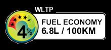 6.8 litres/100km
