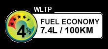 7.4 litres/100km