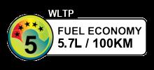 5.7 litres/100km