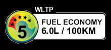 6 litres/100km