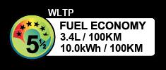 3.4 litres/100km