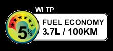 3.7 litres/100km