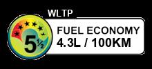 4.3 litres/100km