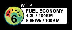 1.3 litres/100km