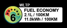2.1 litres/100km