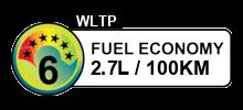 2.7 litres/100km