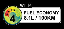 8.1 litres/100km